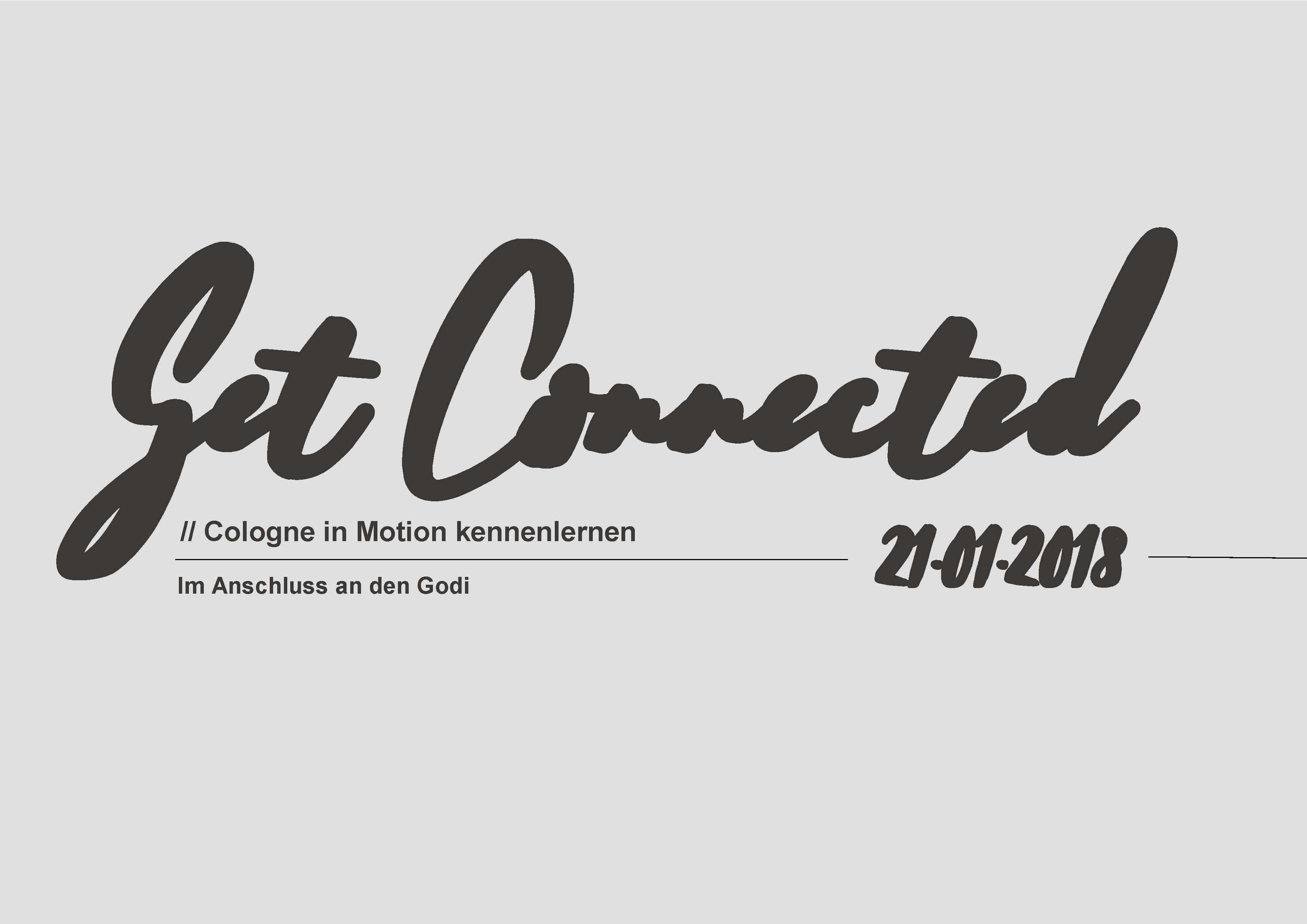 Get connected 21.01.2018